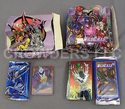 WildCATS Over Size Chromium '94 & Animated Trading Card '95 Boxes 54 Sealed Pack
