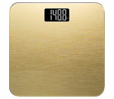 Smart Weigh Modern Digital Bathroom Scale in Tempered Glass 400lb/180k - Gold