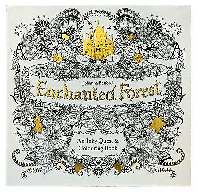 Enchanted Forest : An Inky Quest and Coloring Book by Johanna Basford 2015 Paper