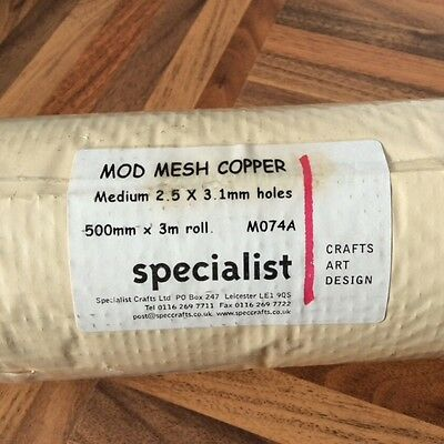 Copper mesh 500mm x 3m for craft, mask and modelling