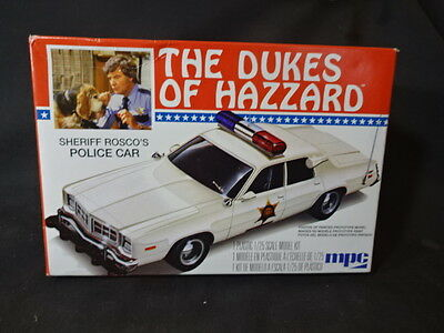 The Dukes Of Hazzard Sheriff Rosco's Police Car MPC Model Kit Toy