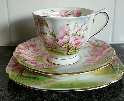 C.1940's Royal Albert Blossom Time Trio  Made In England