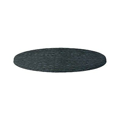 Werzalit Round Table Top Rattan Anthracite 700mm