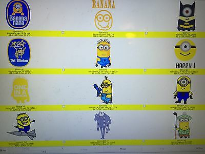 20 Disney Despicable Me Minion Embroidery Design Cd In Pes,jef,hus,dst,vp3