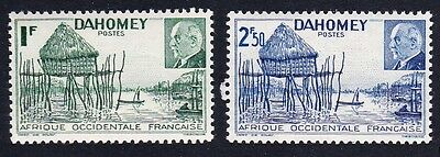 Dahomey Marshal Petain issue 2v SG#143e/143f SC#135-36