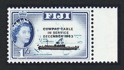 Fiji COMPAC Cable overprint 1v with margin SG#335 SC#205