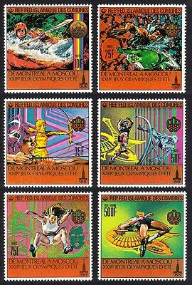 Comoro Is. Summer Olympic Games Moscow 6v SG#330/35 MI#513A-18A