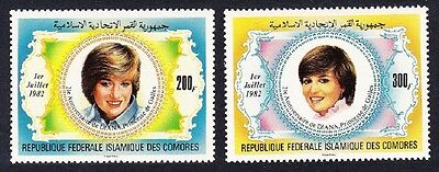 Comoro Is. 21st Birthday of Diana Princess of Wales 2v SG#482/83 MI#659-60