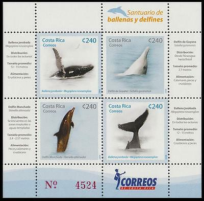 Costa Rica Whales and Dolphins sanctuary MS SG#1870/73 MI#1791-04