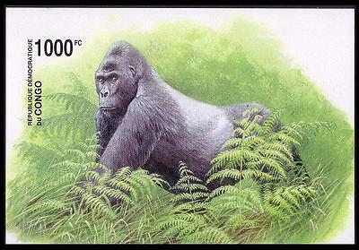 DR Congo WWF Grauer's Gorilla Accompanying Miniature Sheet imperforated
