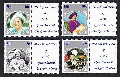 Fiji Life & Times of Queen Mother 4v with labels SG#701/04 SC#531-534