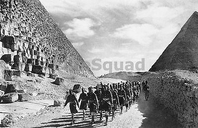 WW2 Picture Photo Cameron Highlanders a Scottish infantry nearGreat Pyramid 978