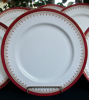 Aynsley Durham #1646- Maroon Smooth (1984-95) Dinner Plate (S)-Excellent! Gilt!