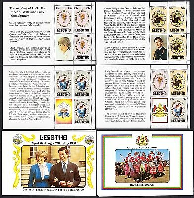 Lesotho Charles and Diana Royal Wedding Stapled Booklet SG#SB2a