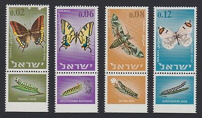 Israel Butterflies and Moths 4v with tabs D1 SG#323/26 SC#304-307 MI#352-55