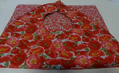Adult Bibs / cover-ups for adults, seniors, disabled/ bibs; Poppies; red/gray