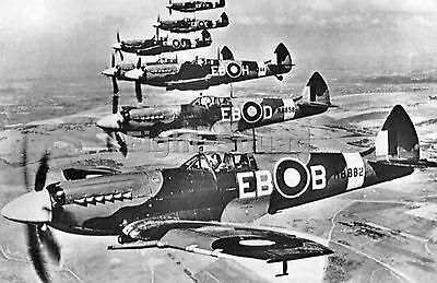 WW2 Picture Photo Spitfire Mk XII fighters of 41 Squadron RAF flying 1652