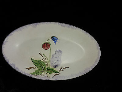 """Edward Radford Pottery England Hand Painted 8.5"""" Oval Plate / Dish."""