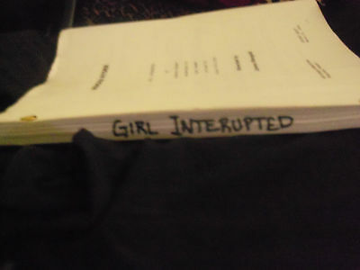"""girl Interrupted"" (1996) Angelina Jolie Movie Script Screenplay Reprint"