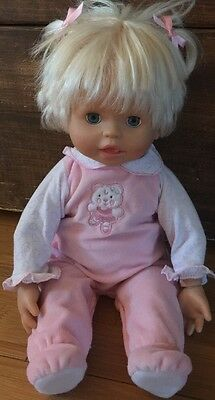 """LITTLE MOMMY Interactive 16"""" DOLL Fisher Price REAL LOVING BABY Mattel 2006"""