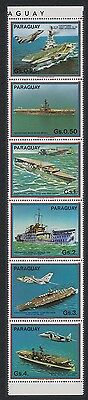 Paraguay Ships Airplanes Air carriers Strip of 6+Sheetlet SC#2088