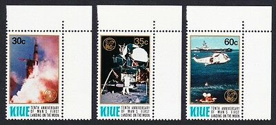 Niue 10th Anniversary of First Moon Landing 3v Corners with Margins SG#300/02