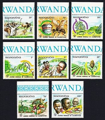Rwanda Bees Cattle World Food Day 8v Top Margins Some with inscript SG#1089/96