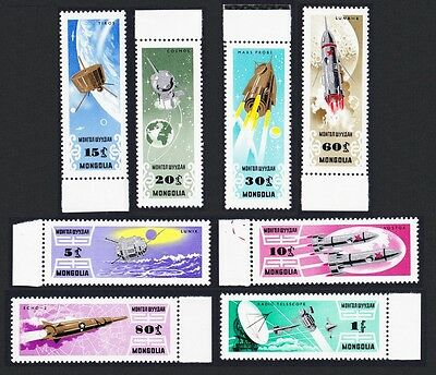 Mongolia Space Research 8v with margins SG#346/53 SC#361-69