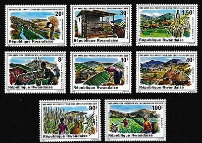 Rwanda Birds Soil Protection and Conservation Year 8v SG#1015/22 SC#1001-08