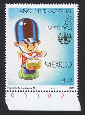 Mexico International Year of Disabled People 1v Margins with Control Number