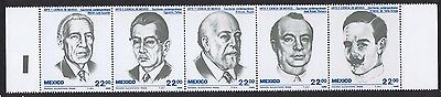 Mexico Mexican Scientists Strip of 5 Folded SG#1750/54 SC#1397a