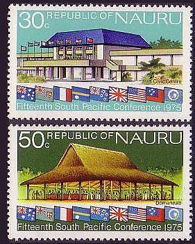 Nauru South Pacific Commission Conference (2nd Issue) 2v SG#137/38