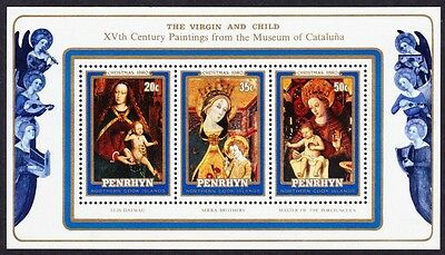 Penrhyn Paintings Christmas MS issue 1980 SG#MS164 SC#129a