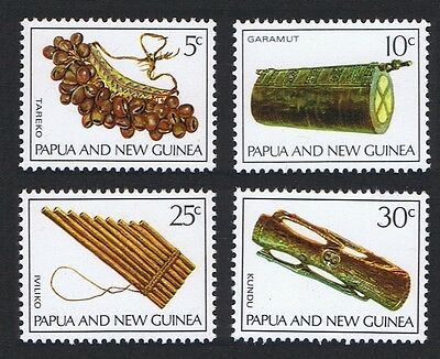 Papua NG Musical Instruments 4v issue 1969 SG#165/68 SC#293-296 MI#167-70