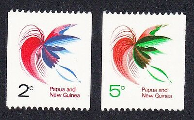 Papua NG Bird of Paradise Coil Stamps 2v SG#162a/63 SC#291A-292