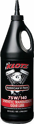 3 Quarts of KLOTZ AMERICAN V-TWIN TRANSMISSION LUBE 75W-140 3/32OZ KH-GL140