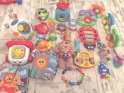 Bundle Of 21 Baby Toys V Tech Fisher Price Lamaze Musical Activity Soft Toys
