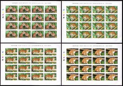 Senegal WWF African Golden Cat 4 Imperf Sheets of 16 stamps each 16 sets