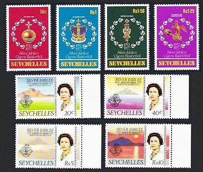 Seychelles Silver Jubilee 8v some with margins SG#393/400 SC#380-87