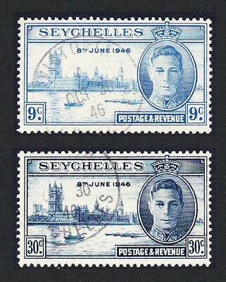 Seychelles World War II Victory 2v cancelled SG#150/51 SC#149-50