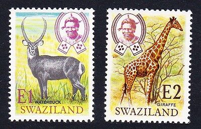 Swaziland Giraffe Waterbuck New Currency 2v SG#219/20 SC#228-29