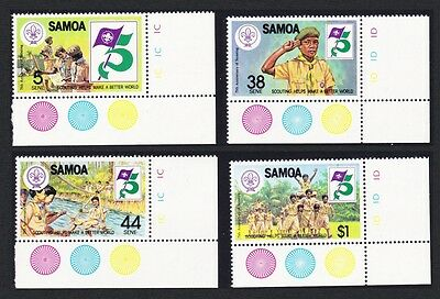 Samoa Boy Scouts 4v corners with margins SG#620/23 SC#575-578