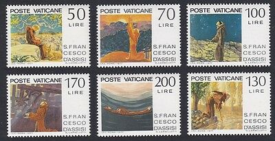 Vatican 750th Death Anniversary of St. Francis of Assisi 6v MH SG#671/76