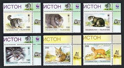 Tajikistan WWF Pallas's Cat 6v Top Right Corners SG#90/95 SC#92-97 MI#94-99