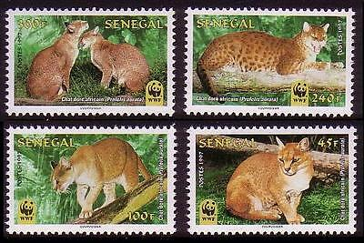 Senegal WWF African Golden Cat 4v SG#1496/99 SC#1294-97 MI#1515-18