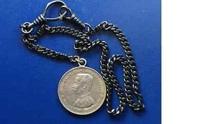 ~Y1900( no date ) Siam Thailand , Silver Coin Rama V ,1 Baht, with necklace
