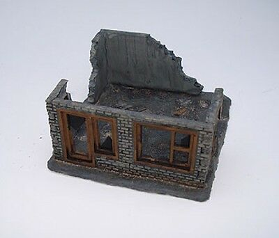 15mm Small Ruined Building Kit - Unpainted - Battlefield Accessories #BA12