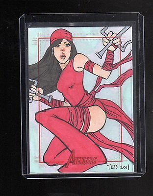 2012 Marvel Greatest Heroes Tess Fowler sketch card