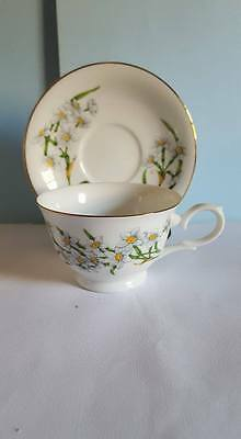 Vintage Avon Blossoms of the Month Series Cup&Saucer ; December,Narcissus; 1991