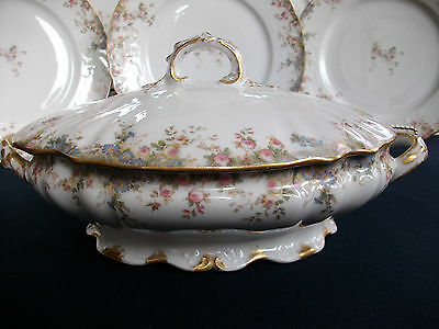 CH FIELD HAVILAND- GDA (c.1898)-COVERED SERVING BOWL- RARE! EXCELLENT! GILT!